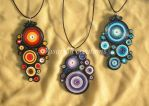 Quilling pendants by OmbryB