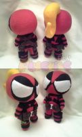 Powerpuff Deadpool and Lady Deadpool by PrinceOfRage