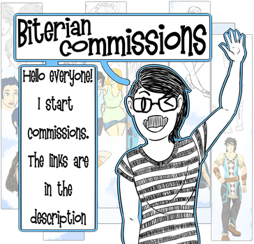 Commissions Start! by biterian