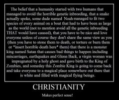Christianity Makes Sense by RustNSplinters