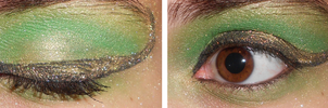 Loki inspired Eye Makeup by Misanthropehalf