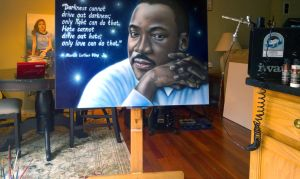32inx46in Airbrush painting by emizael