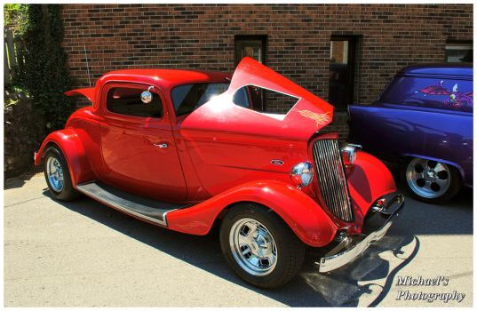Red Ford Hot Rod by TheMan268