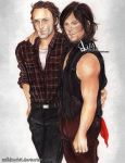 Rick and Daryl - Brothers (Rickyl)  walking dead by zelldinchit