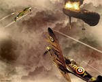 world war II dogfight by mercurialled