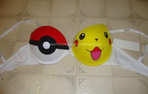 Pokeball Pikachu Bra by RainbowKidShop