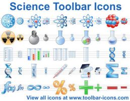 Science Toolbar Icons by richardkingempire