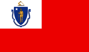 Flag of the Governor of Massachusetts by ramones1986