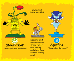 skylander ideas: Battle pack! (Snap and Aqua) by Catty-Mintgum
