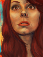 Self Portrait - Red WIP by amandathompson