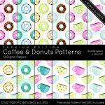 Coffee And Donuts Patterns Premium Edition by MysticEmma