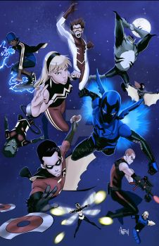Young Justice: Season 2 Print by Antboy