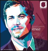 Paul Walker in Wpap by obiy shinichiArt by obiyshinichiart