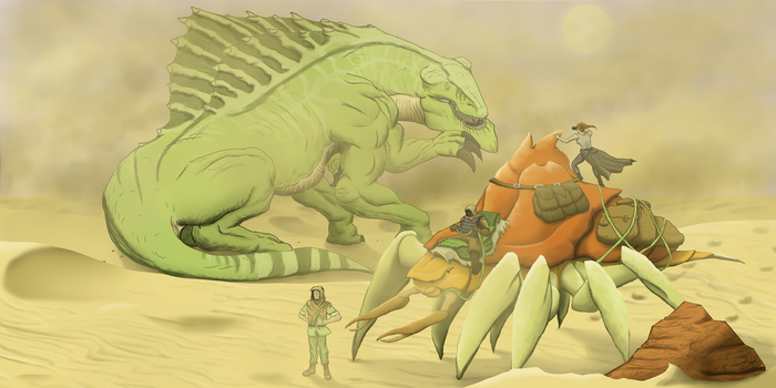 Sharing the Sands with a Titan by A3DNazRigar
