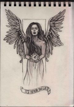 Angel tattoo design by Gothvm