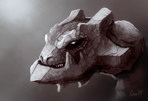 Sketch - Steelix by TheSnowDragon