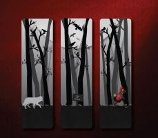 Red Riding Hood Bookmarks by NightBlossom66