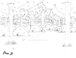 The Forest Of Inuyasha Sketch by MarieJane67777