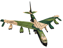 B52 Bomber PNG Stock by Roys-Art