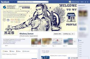 Facebook cover retro style by KhaleeqXaman