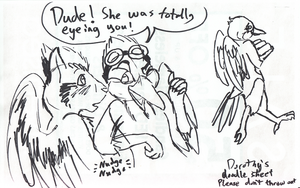 work doodle: birds of a feather OCW by Tatta-doodles