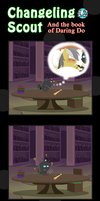 Changeling Scout And The Book Of Daring Do 12 by vavacung