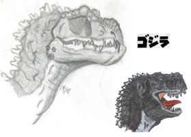Gojira aka Godzilla Re-Design by sebatman