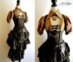 Dress steampunk by myoppa-creation