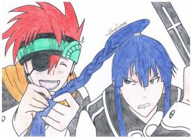 D. Gray-Man: Kanda and Lavi by basedFabio