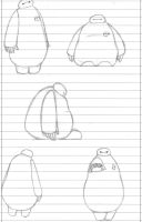 Baymax- Doodles 2 by Gryffindoodle