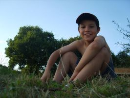 Sitting on the grass by Clopi