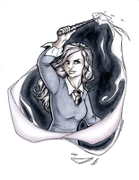 Hermione Marker Sketch by TravisTheGeek
