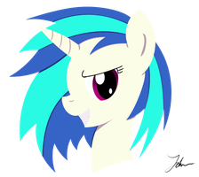 Vinyl Scratch Portrait by NoxDrachen