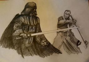 Rogue One. Darth Vader V Chirrut Imwe by Neilbrady