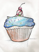 Cupcake by AntiShadowPerson by loverlyness