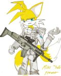 Miles 'Tails' Prower on His Gun (2) by oLEEDUEOLo