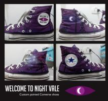 Night Vale Converse Shoes [custom painted] by elveleven