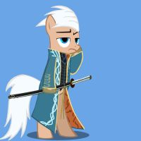 Vergil Pony complete by Shadowpredator100