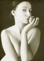 The lady and the peach by LaMusaTriste