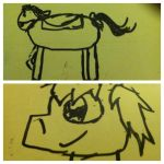 Who Drew It Better?: Winter the pony by BabyYoshiMan623200