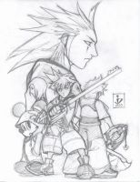 Kingdom Hearts 2 Pencils by arsenalgearxx