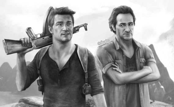 Nathan and Sam (Uncharted 4) by Shuploc