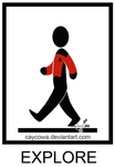 'Explore' Crosswalk sign by caycowa