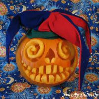 Insane Jester Pumpkin by FriendlyButterfly