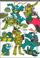 TMNT drawings by s-bis