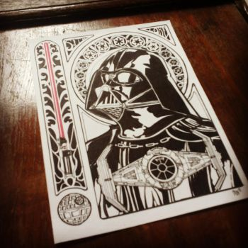 Darth Vader in art nouveau by schonheit