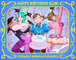 HAPPY BIRTHDAY ELIN!! by Elin-Kuzunoha