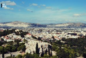 Athens, from the high by JuryJekyll