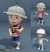 Elia lowpoly character by marze3d