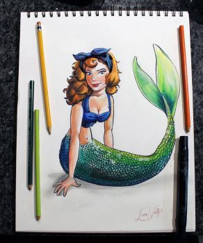 Pin-up Mermaid by Tetra-Triforce